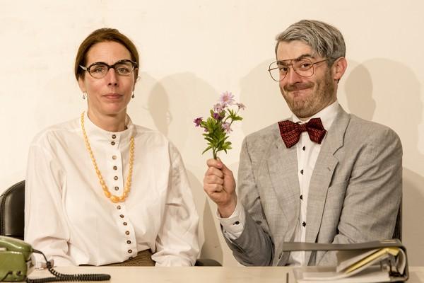 Loriot2 (Liebe im Büro) mit Anke Windgassen und Marc Neumeister. Foto: AWi