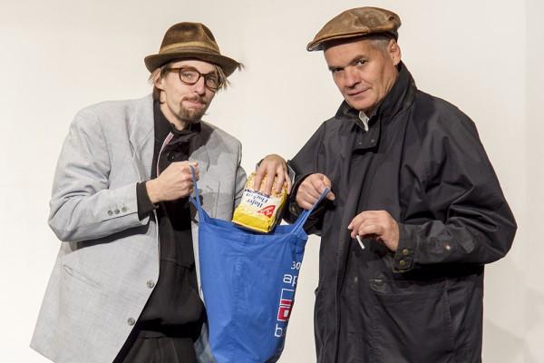 Loriot 2 mit Aaron Heiß (links) und Hugo Boecker. Foto: AWi