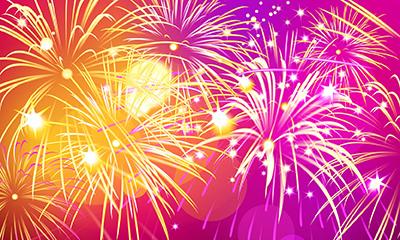 Sparkling fireworks, illustration