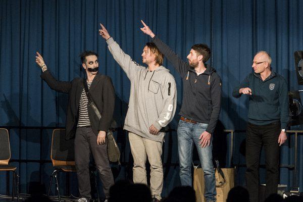 "Der Comedian ""Tape Face"" alias Sam Wills aus Neuseeland gastierte am 10. Februar 2017 im LEO Theater. Fotos: AWi"
